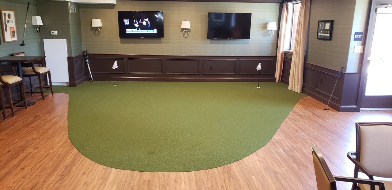 Indoor putting green in Stow MA